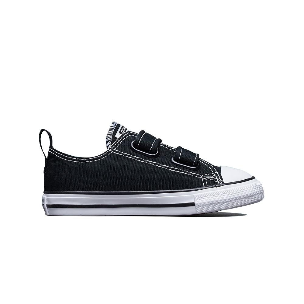 CONVERSE CT 2V OX BLACK 休閒鞋 小童 黑-7V603C