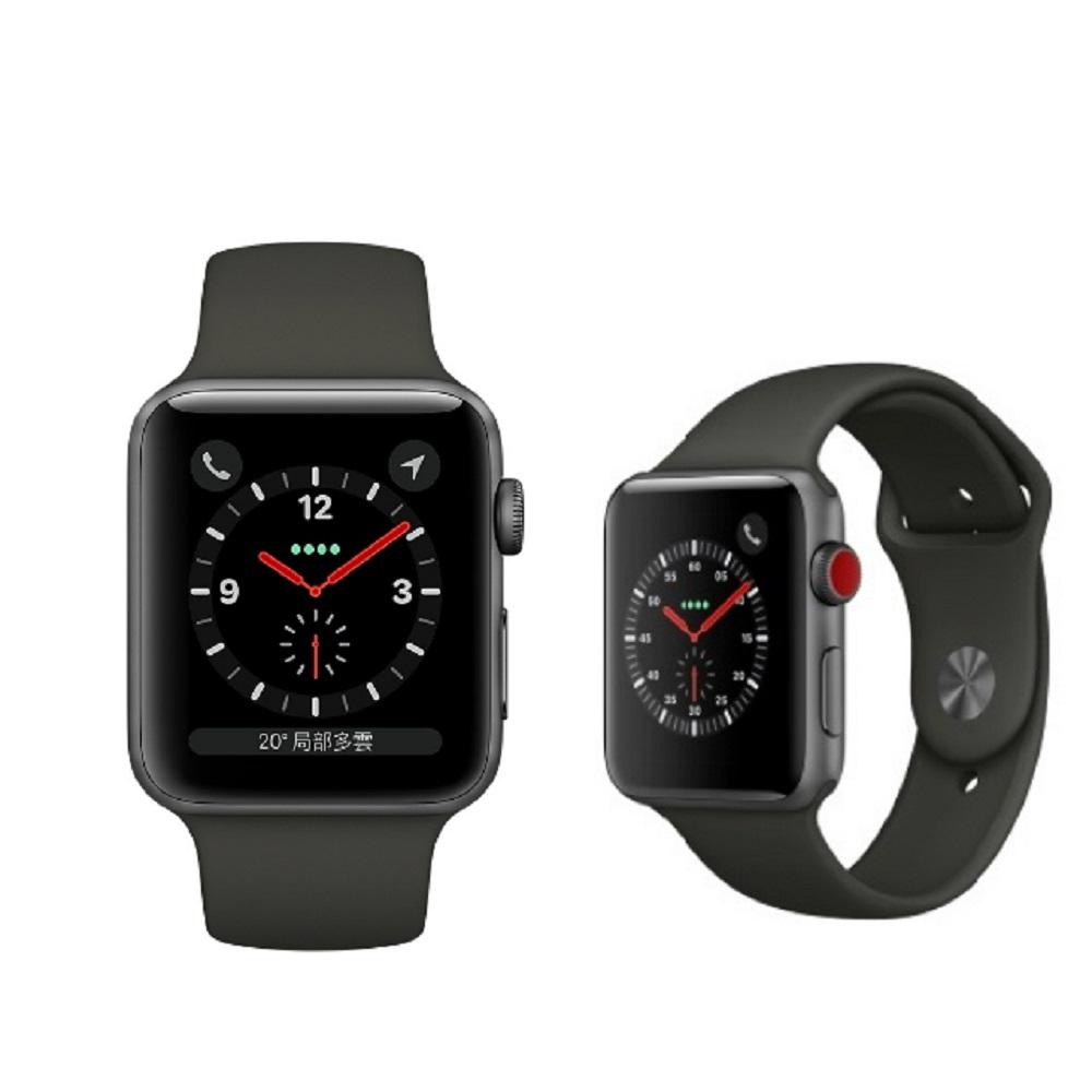 Apple Watch Series3 GPS+行動網路42公釐 太空灰色鋁搭配灰 @ Y!購物