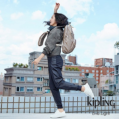 Kipling 林依晨款邊緣地帶插扣子母後背包-TROY EXTRA-EDGELAND系列