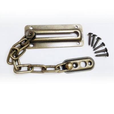 HK002 鋅合金 安全門鏈 不鏽鋼防盜 防盜鏈 門鍊 附門閂 防盜門鍊 附螺絲 台灣製