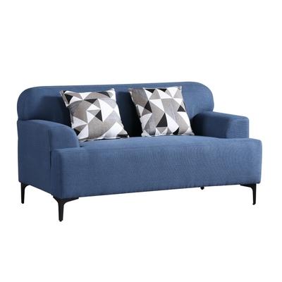 MUNA 3213型藍色雙人椅布沙發 152X88X82cm