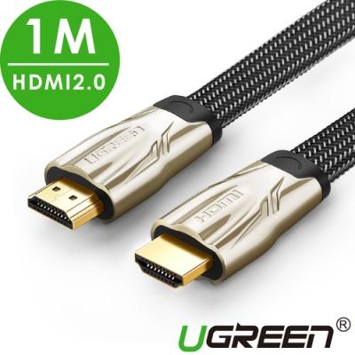 綠聯 HDMI2.0傳輸線 BRAID FLAT版 1M