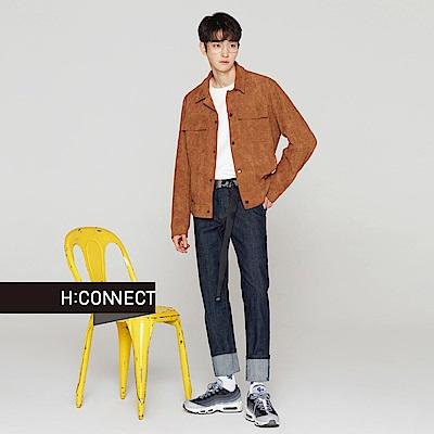 H:CONNECT 韓國品牌 男裝-經典素面直筒牛仔褲-藍