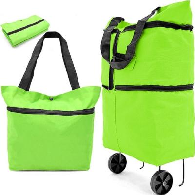 伸縮折疊購物袋 拖輪車 購物包 摺疊環保購物車
