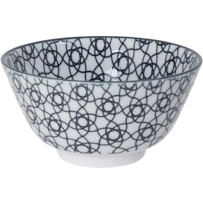 《Tokyo Design》瓷製餐碗(花繩黑12cm)