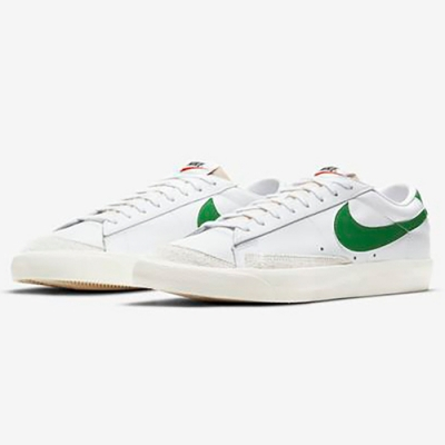 NIKE 休閒鞋 運動鞋 男鞋 白綠 DA6364-115 Blazer Low 77 VNTG