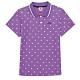 KAPPA義大利 時尚吸濕排汗女針織短袖POLO衫 粉紫 34172VWXDC product thumbnail 1