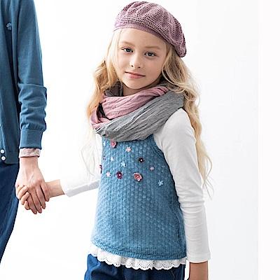 PIPPY 小花背心兩件式上衣 藍