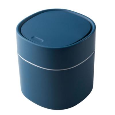 彈蓋 迷你 桌面 收納 簡約 北歐風 按壓式 垃圾桶