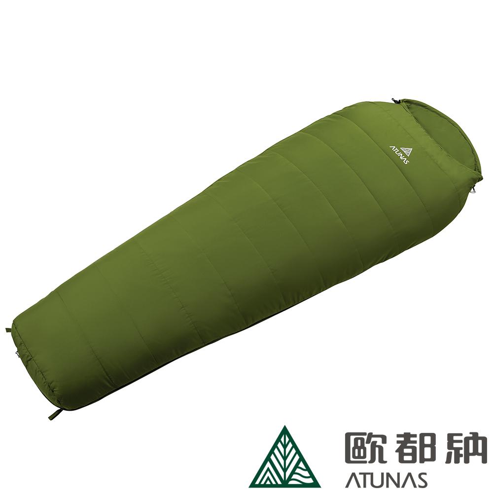 【ATUNAS 歐都納】700型超輕纖維睡袋 戶外露營/輕巧收納 A-SB1601 綠