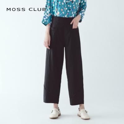 【MOSS CLUB】寬褲口造型設計-長褲(灰色)
