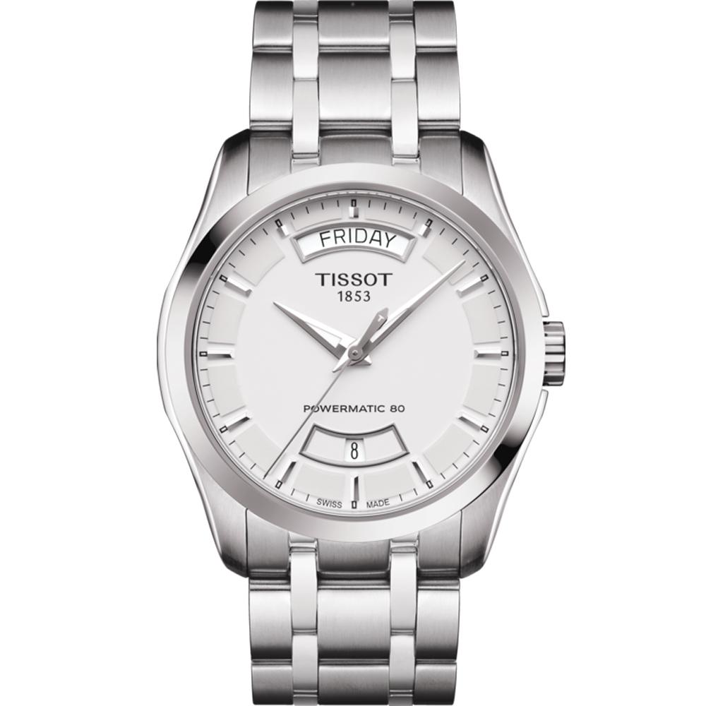 TISSOT天梭 Couturier 80小時動力儲存機械腕錶 T035407110310