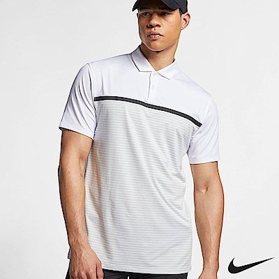 Nike Tiger Woods 男條紋高爾夫Polo BV1321-100