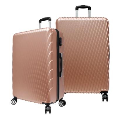 RAIN DEER 24吋羅馬妮雅ABS拉鍊行李箱-玫瑰金