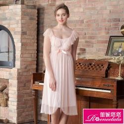 睡衣 彈力珍珠絲質 性感連身睡衣 甜心寶貝(R96022-2粉)蕾妮塔塔