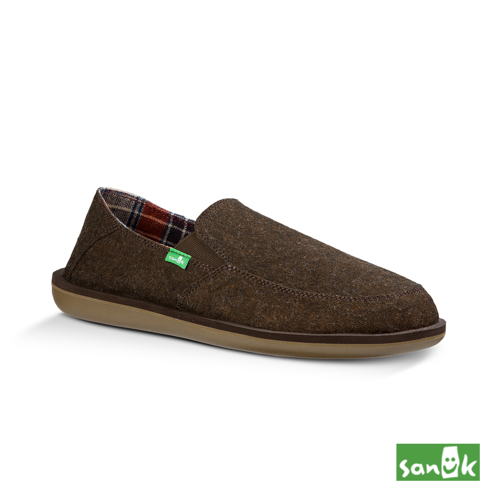 SANUK VICE TX內格紋懶人鞋-男款(咖啡色)1013949 BRN