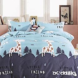 BEDDING-活性印染3.5尺單人薄床包二件組-小森林