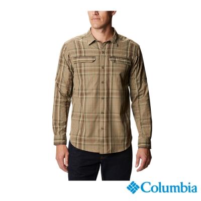 Columbia 哥倫比亞 男款 - Omni-Shade 防曬50快排長袖格紋襯衫-褐綠 UAE06490CS