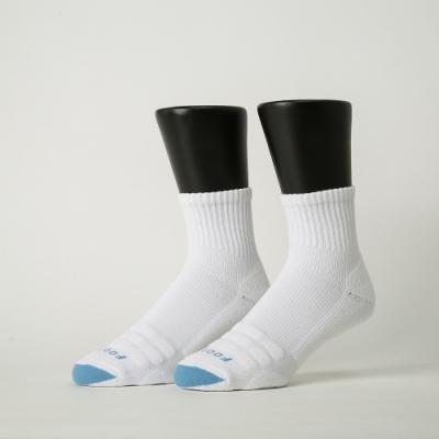 Footer除臭襪-螺旋氣墊輕壓力襪-六雙入(白色*2+藍色*2+紫色*2)