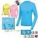 海夫健康生活館 MEGA COOUV 日本技術 原紗冰絲 涼感防曬 女生外套 藍色_UV-F403C product thumbnail 1