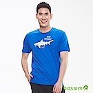 bossini男裝-印花短袖T恤22藍