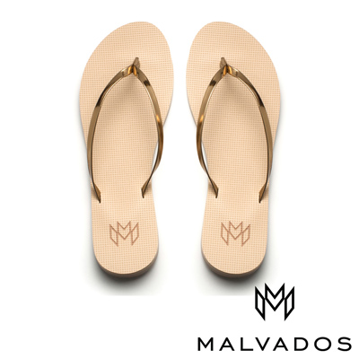 【Malvados 魅凡朵】時尚女性人字拖 Lux 萊絲《飾金》