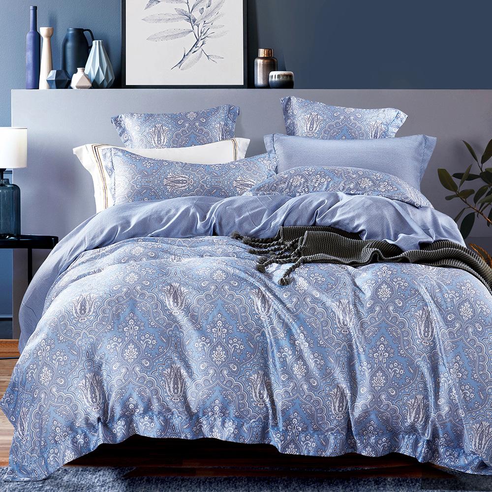 Ania Casa 依薇 天絲 100% TENCEL 加大鋪棉兩用被套床包四件組