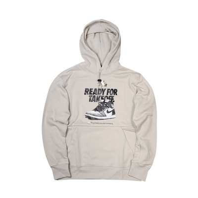 Nike 帽T Holiday Hoodie 運動休閒 男女款 外層觸感光滑 內層微刷毛 保暖 抽繩 米 黑 DO9152-236