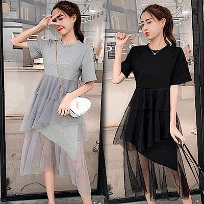 【韓國K.W.】賣瘋了復古風潮層次洋裝-2色