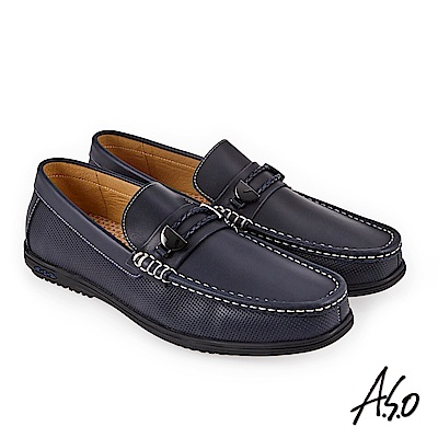 A.S.O 3D超動能 直套式奈米戶外健走鞋 深藍