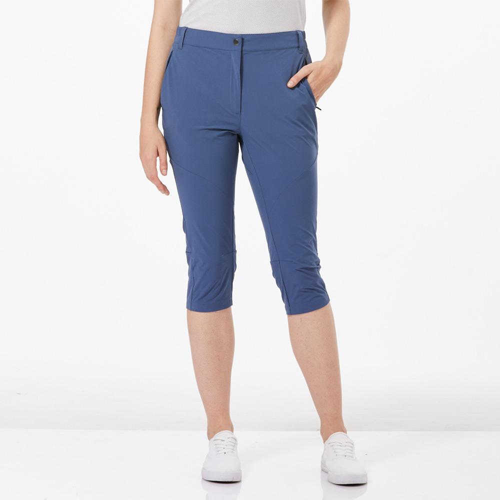 【HAKERS 哈克士】女 快乾彈性七分褲-復古藍