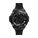Wize&Ope WAX系列 潮流玩家復刻電子錶-經典黑 /49mm