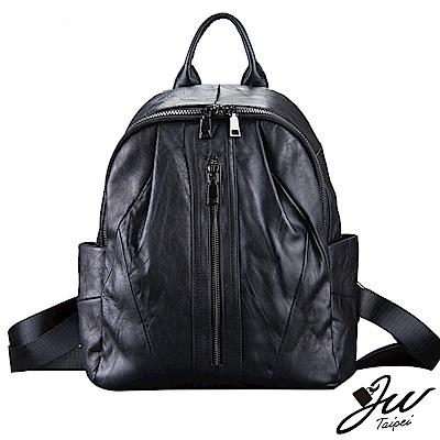 JW  真皮日式羊皮拼接大容量雙肩後背包
