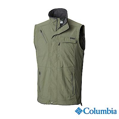 Columbia 哥倫比亞 男款-UPF50快排背心-軍綠 UAE01730AG