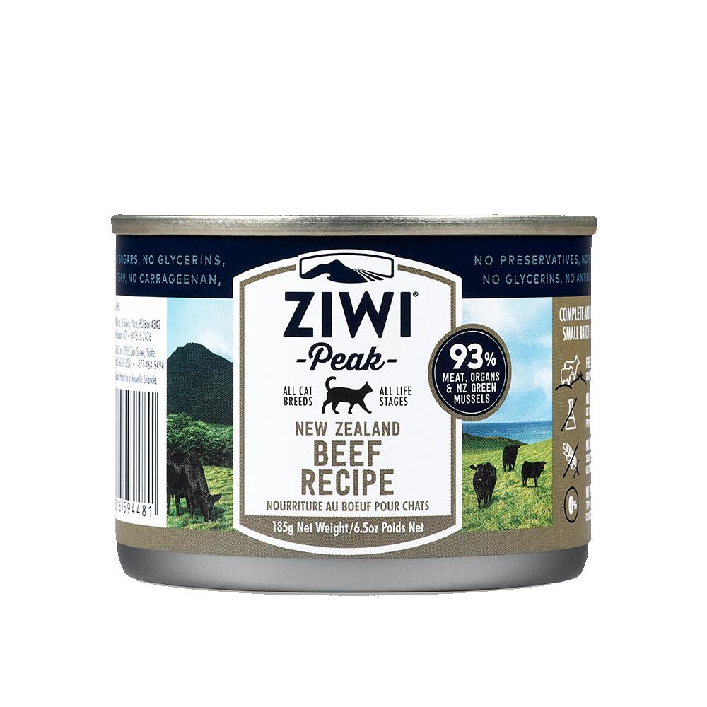 ZiwiPeak巔峰 93%鮮肉貓 牛肉 185G (三箱36罐)