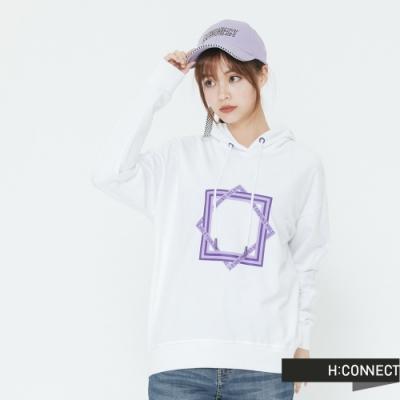 H:CONNECT 韓國品牌 女裝 -格紋滾邊logo棒球帽-紫(快)
