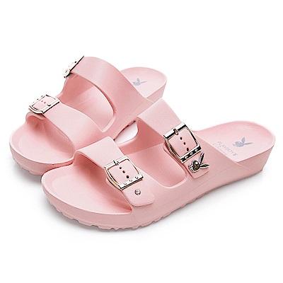 PLAYBOY 水鑽雙帶輕盈休閒拖鞋-粉-YT51099