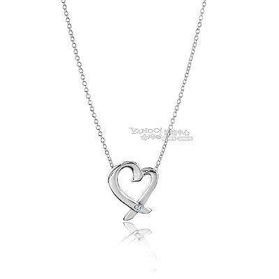 TIFFANY&Co. Loving Heart 單鑽925純銀項鍊 @ Y!購物