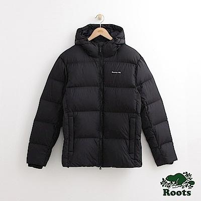 Roots 男裝-經典派克大衣-黑色
