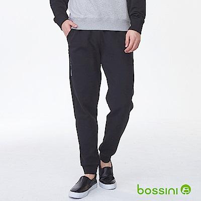 bossini男裝-厚棉束口長褲02黑