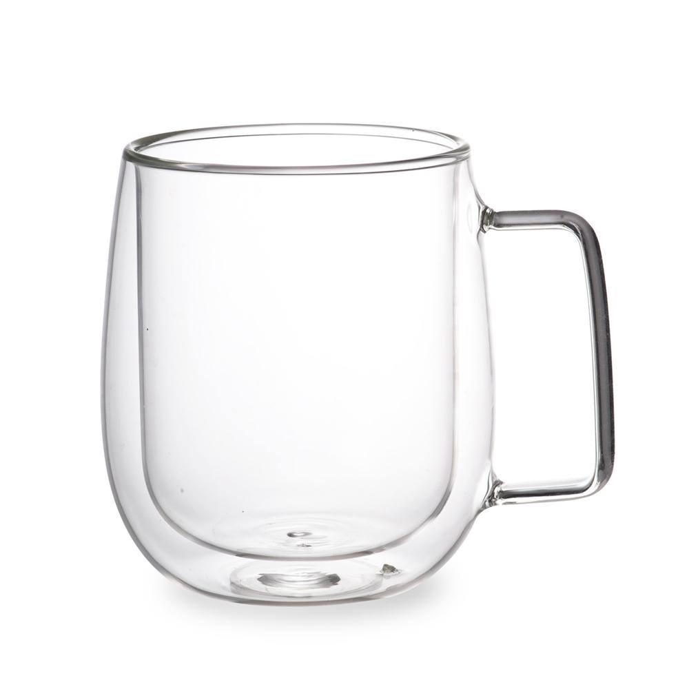 [Caldo卡朵生活]慢活雙層隔熱有柄玻璃杯 400ML