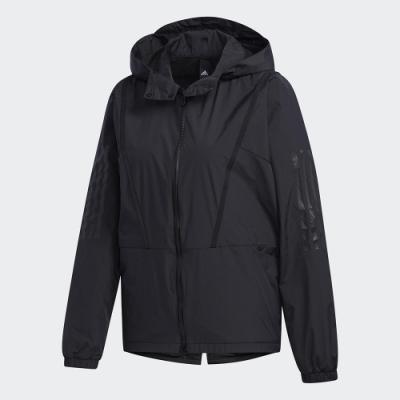adidas 外套 風衣外套 運動 慢跑 訓練 女款 黑 GF6959