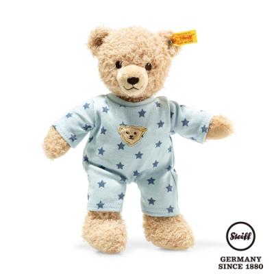 STEIFF德國金耳釦  Teddy bear boy baby with pyjama 星星睡衣小男孩 (嬰幼兒玩偶)
