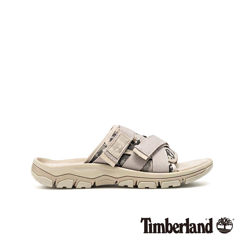 Timberland 男款陰灰色迷彩拖鞋 A1ZS4