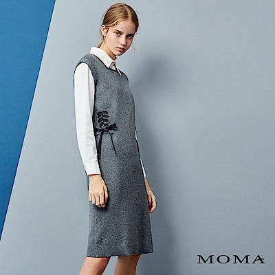 MOMA綁帶無袖洋裝