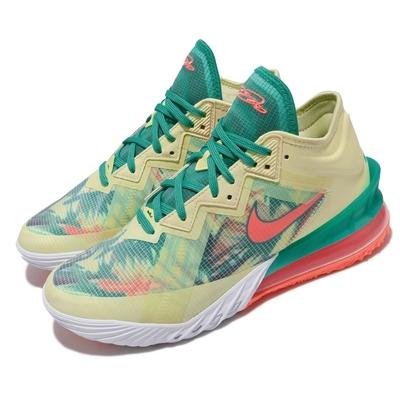 Nike 籃球鞋 Lebron XVIII Low 男鞋 避震 包覆 明星款 氣墊 支撐 黃 綠 CV7564300