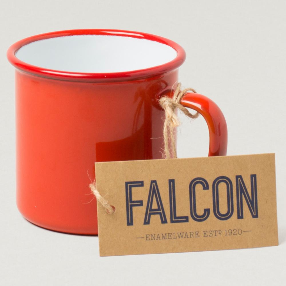 Falcon 獵鷹琺瑯 琺瑯馬克杯 水杯 350ml 紅白