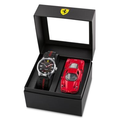 Scuderia Ferrari 法拉利 手錶模型車套組-34mm (FA0870043)