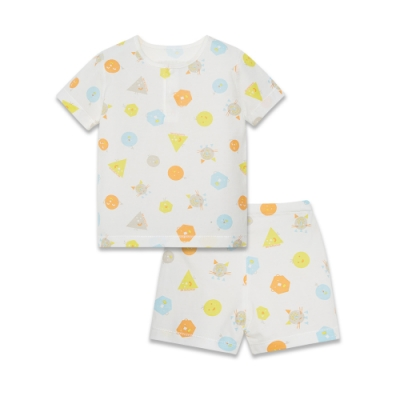 【麗嬰房】Cloudy雲柔系列 童趣短袖兩粒扣套裝(短袖+短褲組) (76cm~130cm)