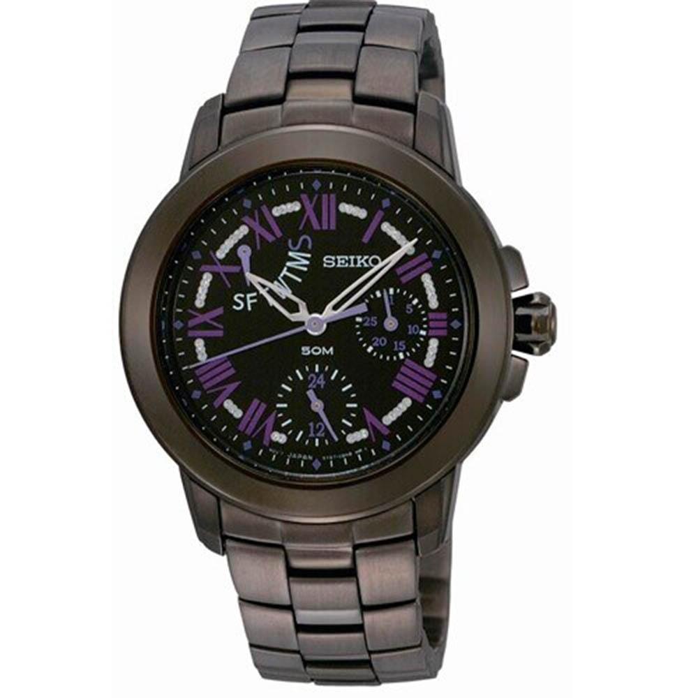 SEIKO精工 Criteria都會時尚女不鏽鋼腕錶-34mm(SPA803P1/5Y67-0AV0SD)